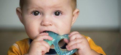 Bebé con anillo gingival