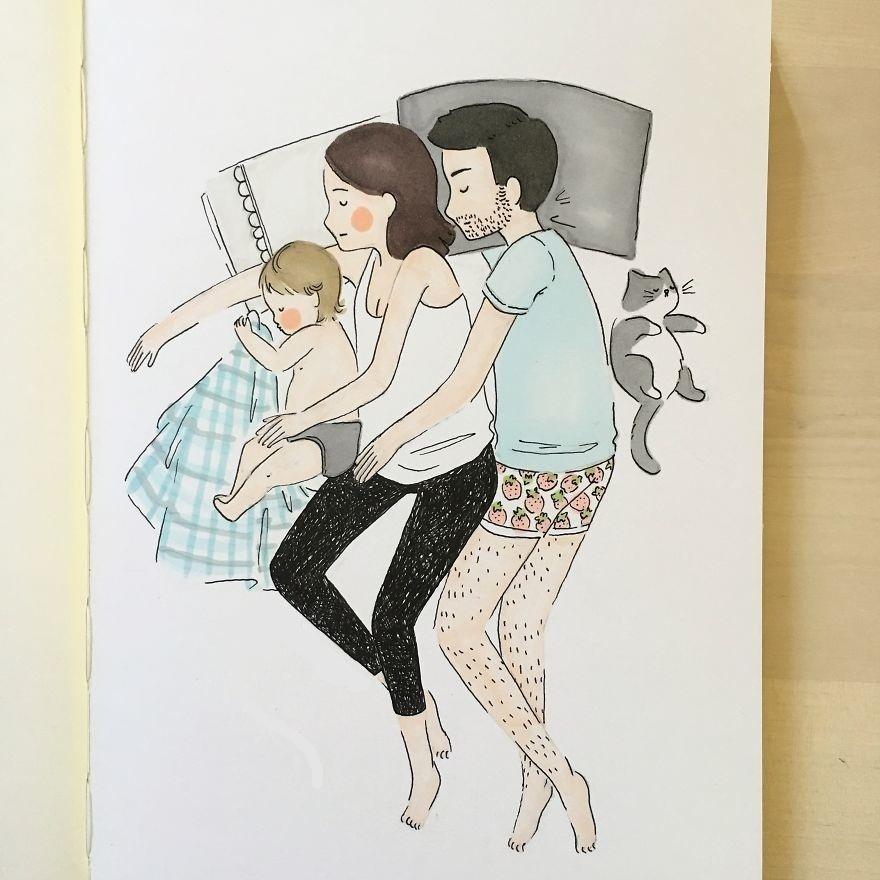 Ilustraciones de mamá con las que te sentirás identificada