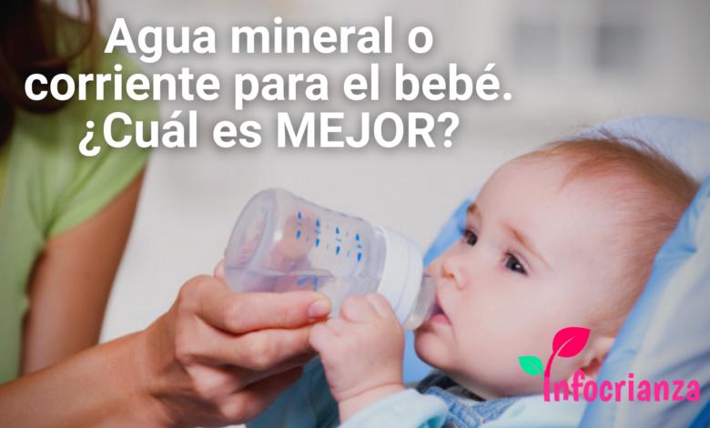 ¿El agua mineral es buena para los bebés?