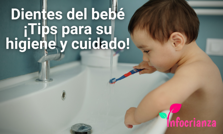 Higiene de los dientes del bebé