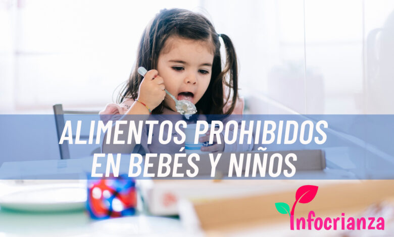 Alimentos prohibidos en bebés